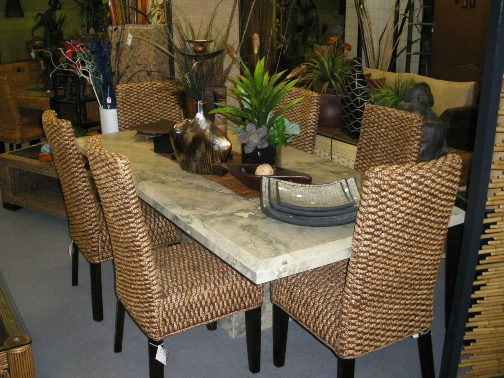 Furniture: Round Seagrass Coffee Table At Living Room Still Elegant As  Furniture At Home Also