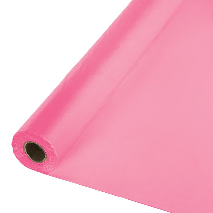 Candy Pink Banquet Table Roll 1 Ct Pink Candy Pink Plastic Pink Tablecloth