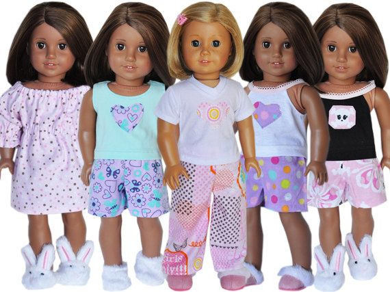 American Girl Birthday Party - Pajama Party Theme 5 Pack