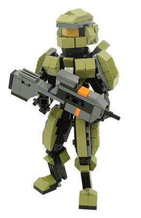 lego halo 4 master chief with battle rifle lego pinterest lego