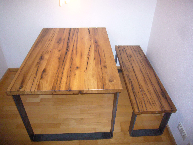 Tisch und #Bank in #Alteiche geölt | L+S / Tische und Bänke ...