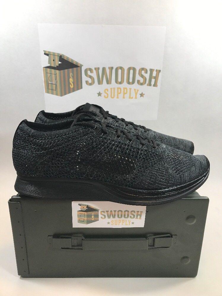uk availability c666c f0427 Nike Flyknit Racer Black Anthracite New Mens Size 9.5 Womens 11 526628-009   Nike  RunningCrossTraining