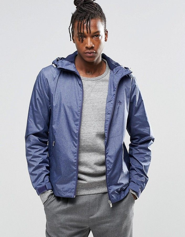 Original Penguin Lightweight Rain Jacket | Men: Fashion: Outerwear ...