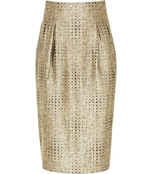 0ddeb0b37 Pin by Kirstin Smith on Styling | Pinterest | Gold pencil skirt ...