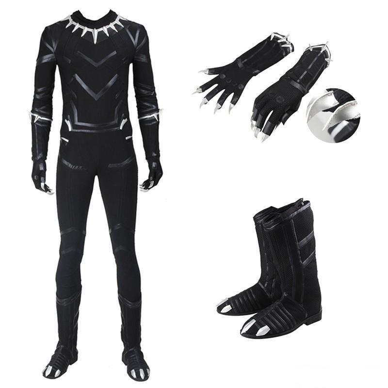 Civil War Cosplay Black Panther T/'Challa Costume Uniform New Captain America 3