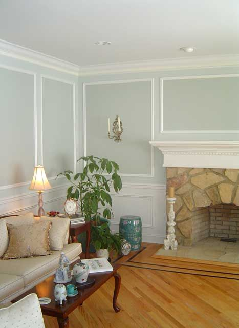 expert moulding coupled with expert painting adds a high end look