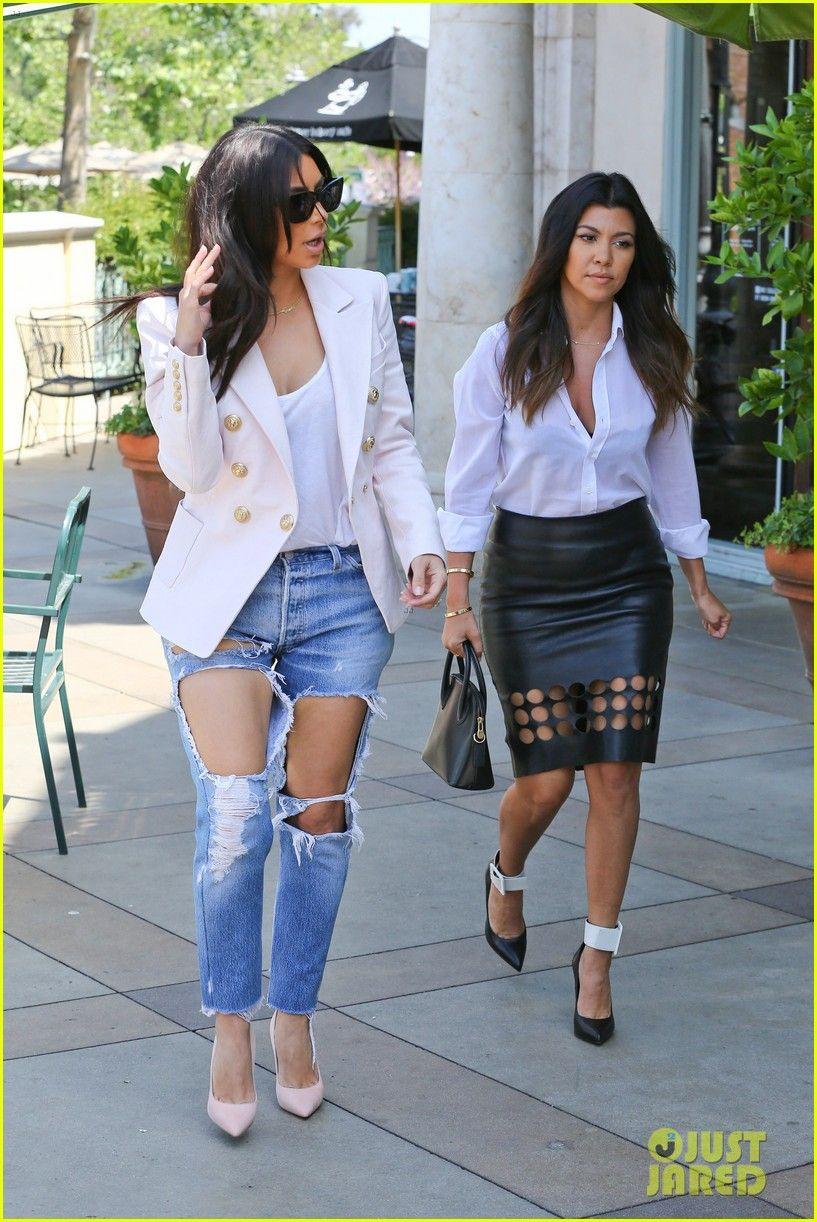 Kim Kardashian Wears White Crop Top, Tube Skirt: Street Style