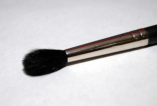 """MAC 224 """"Fluffy"""" brush (as I call it). It's the perfect blending brush. I use this everyday, especially for putting on that first wash of color all over the eyelid and browbone."""