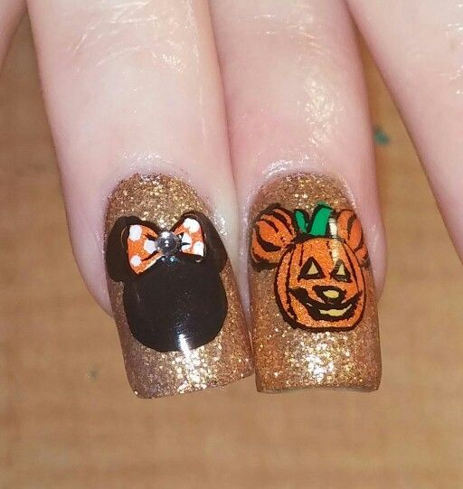 26 Easy Halloween Nail Art Ideas For Teens Nails Pinterest