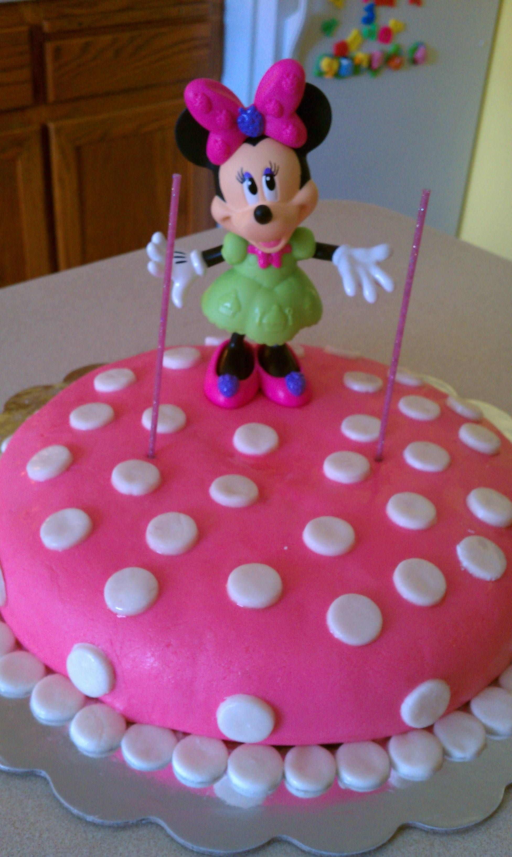 Easy Minnie Mouse Birthday cake Birthday Parties Pinterest
