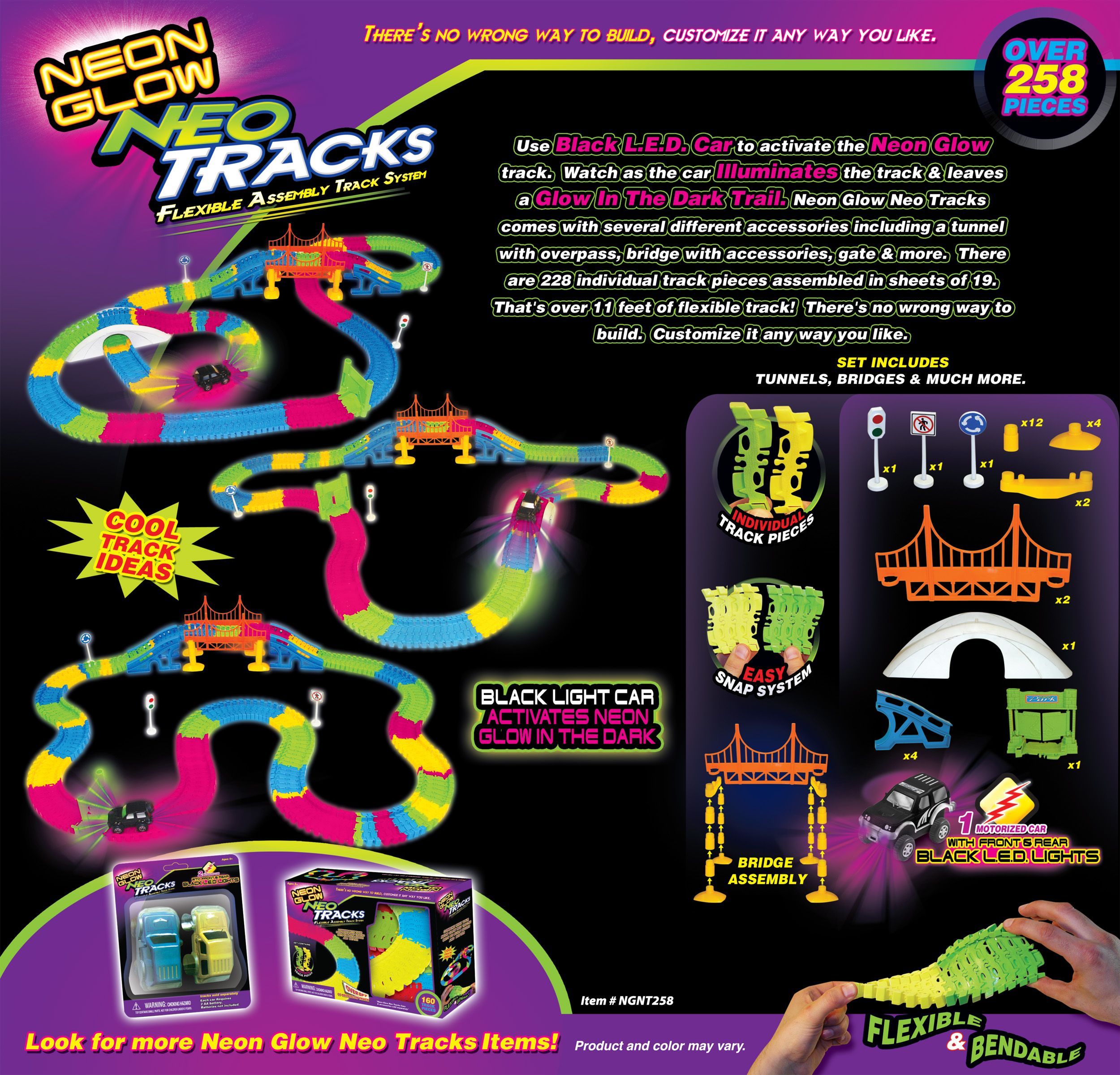 Neon Glow Neo Tracks 258 Flexible Track System As Seen On