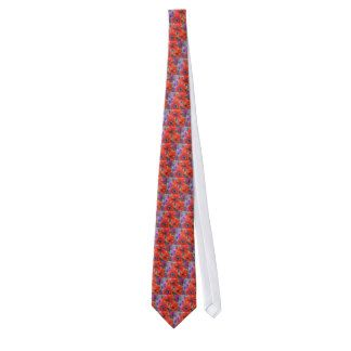 Aggelikis Red Anemones Flower Design Tie