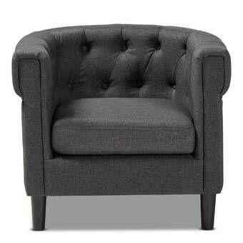 Best Haddie Barrel Chair Fabric Accent Chair Accent Chairs 400 x 300