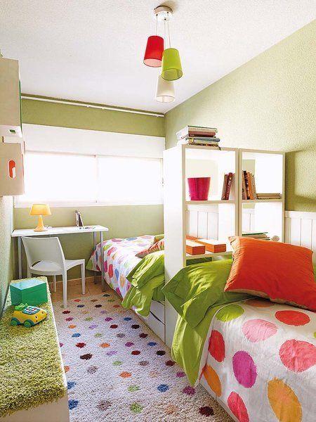 Un dormitorio alegre y juvenil
