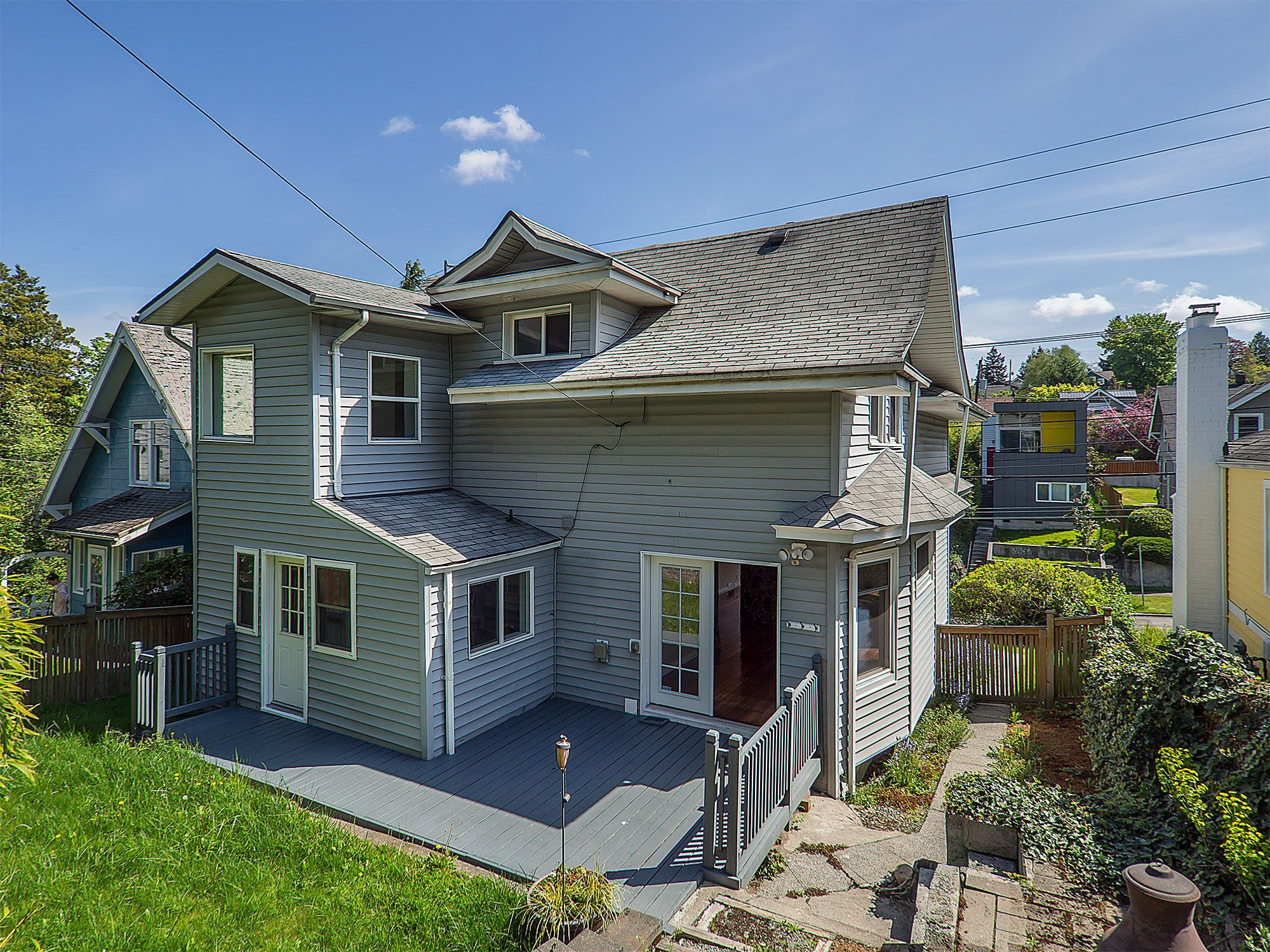 Home With Potential In Queen Anne With Images Terraced Backyard Craftsman Style Homes House Styles