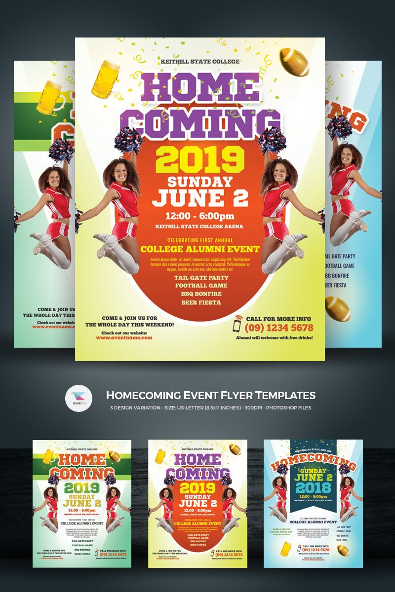 Homecoming Event Flyer Template Design Flyer Design Templates