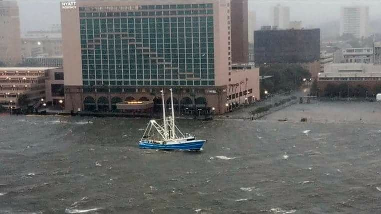 9 11 17 Hurricane Irma This Morning St Johns River Downtown