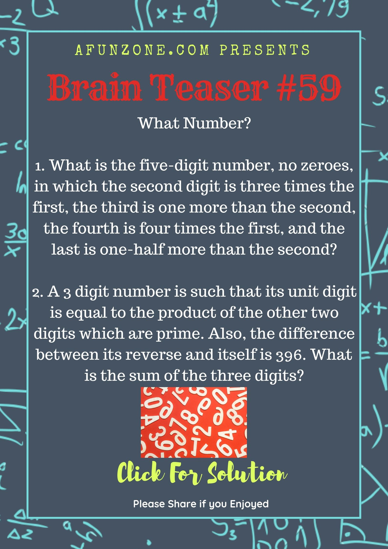 Today S Topic Brainteaser Puzzle Education Numbers