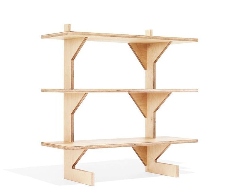 Ken Landauer Makes Zero Waste Furniture From Single Sheet Of Plywood Free Standing Shelves Functional Furniture Shelves