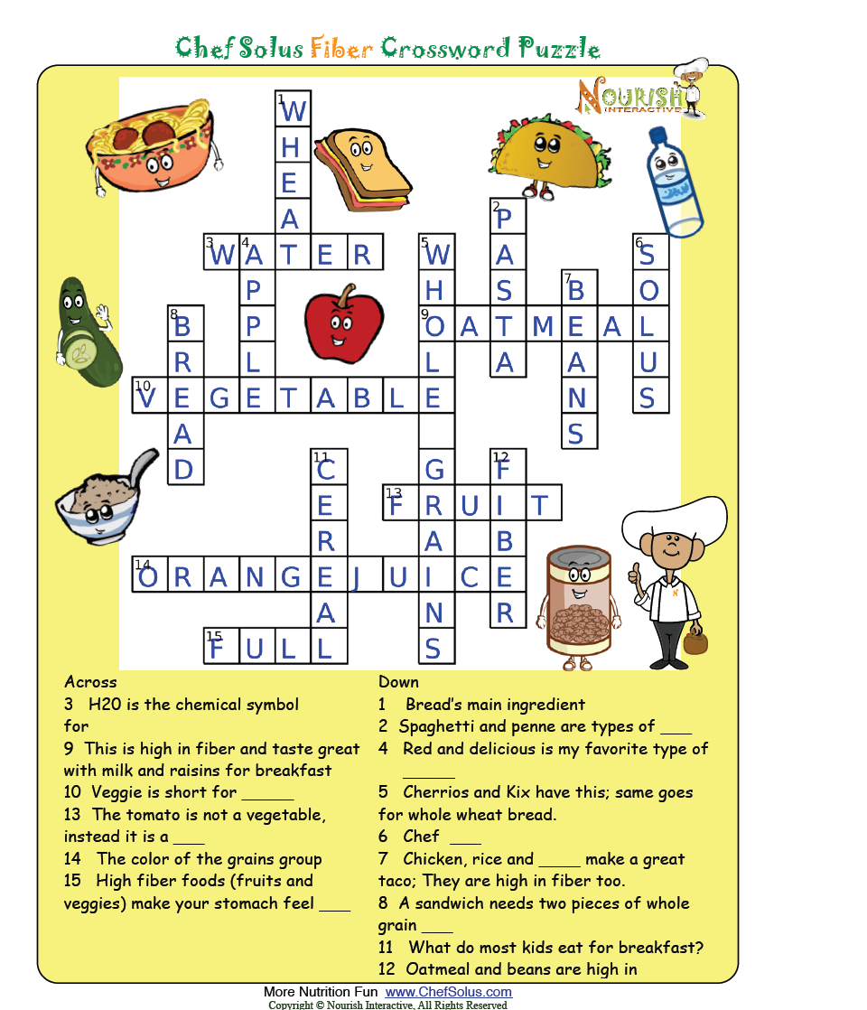 Worksheets Nutrition Worksheets For Elementary fiber answer key nutrition worksheets and games pinterest nutrition