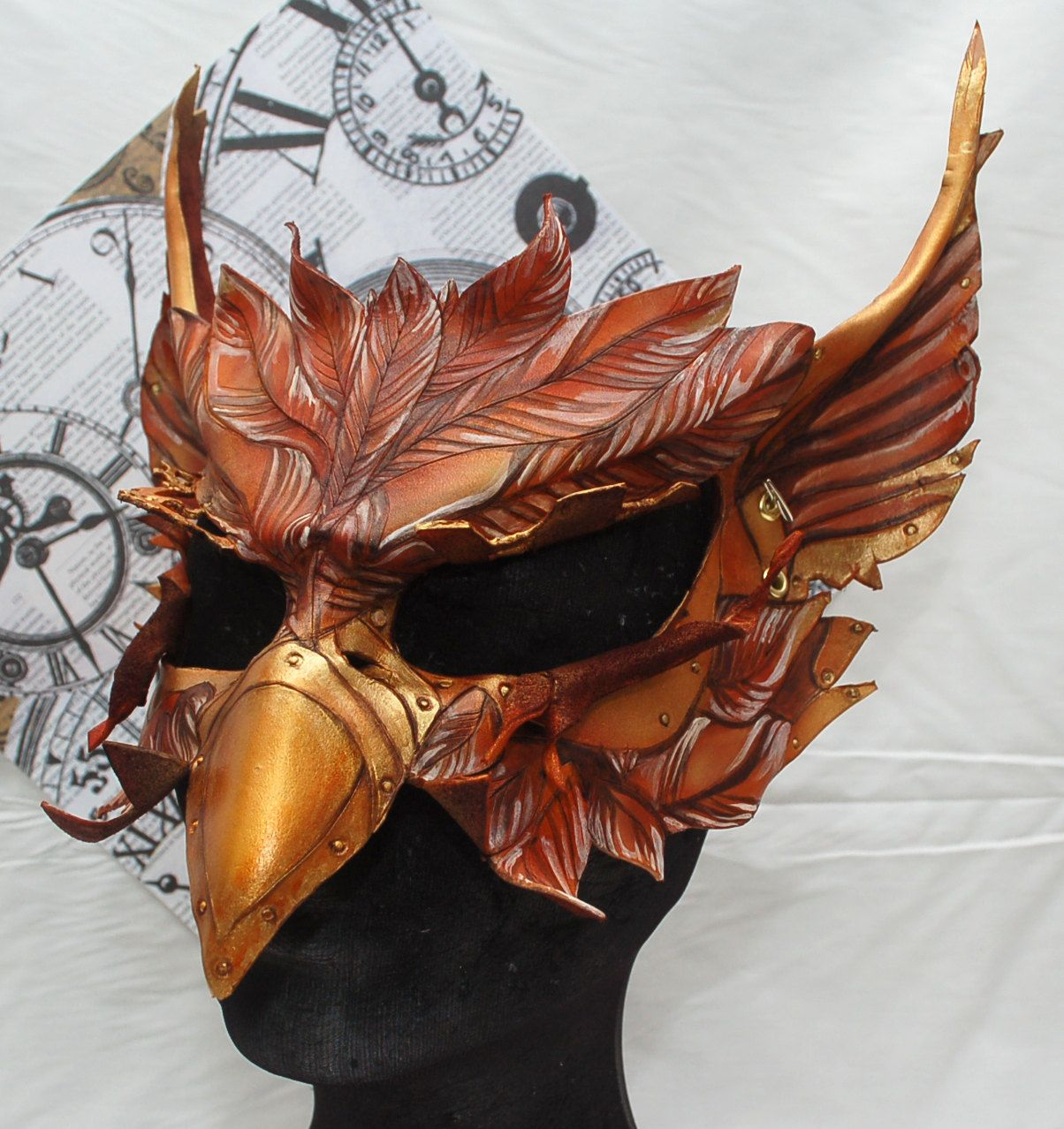 Steampunk Alice in Wonderland Leather Gryphon Griffin Mask ...