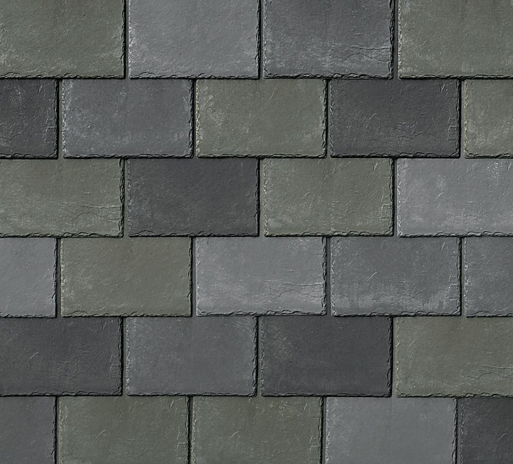 Inspire Synthetic Slate Shingles   Cool Roofing   Wintergreen