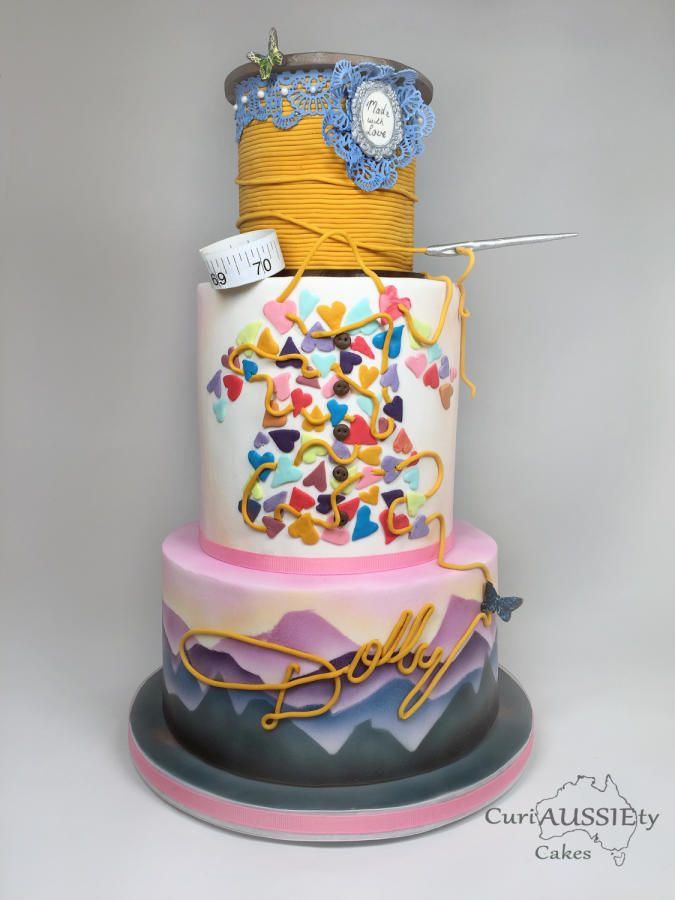 Happy Birthday Dolly Parton By Curiaussiety Custom Cakes Cakes