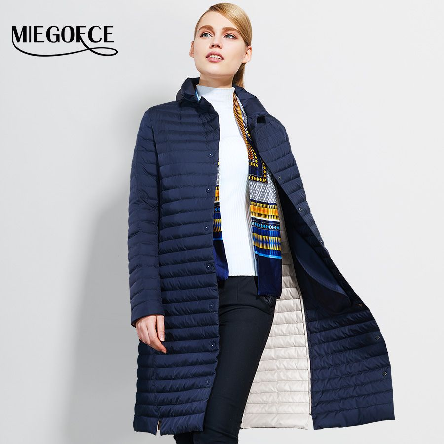 5d38c15a4a7 Aliexpress.com   Buy 2017 Thin Women Quilted Parkas Long Women Cotton  Padded Jacket Spring Windproof Womens Spring Jackets Coats New Design  MIEGOFCE from ...