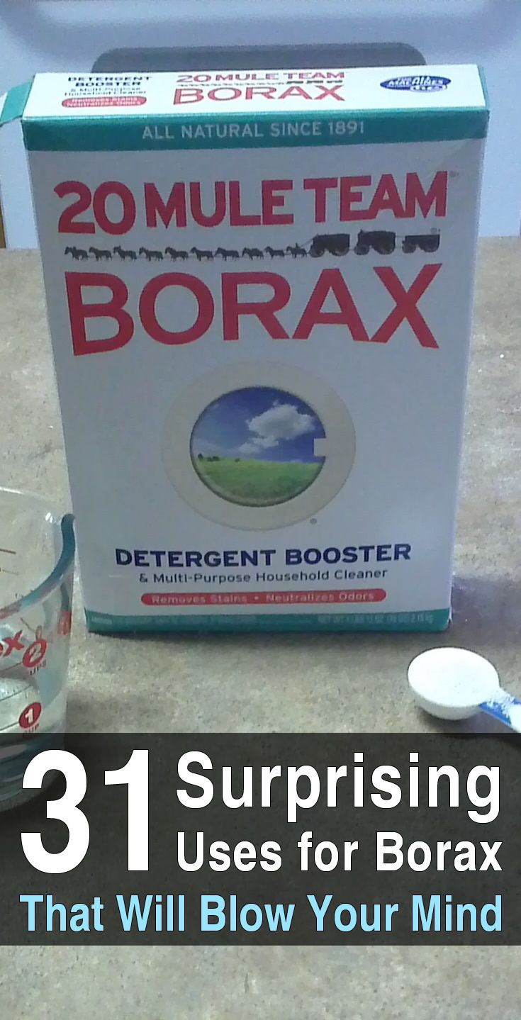 Borax can be used to clean almost anything around the house and it takes up very little space, leaving you room to store other things.