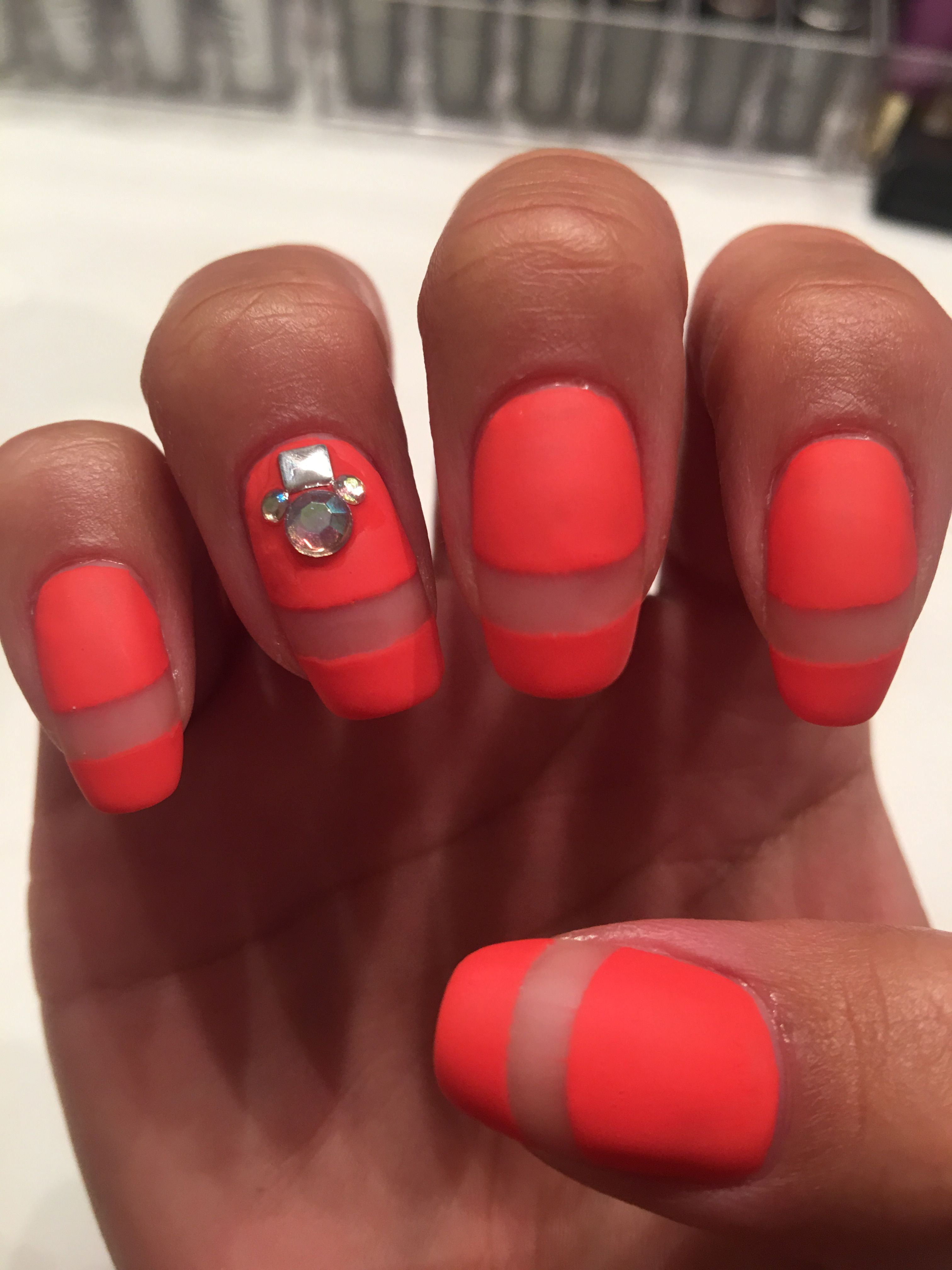 Unique French tip nails in the color Stunner by L.A. Colors ...