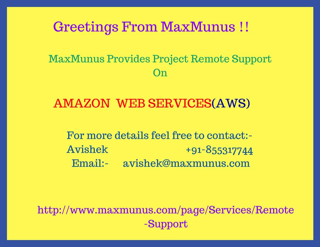 If you are facing any problem in performing your AWS