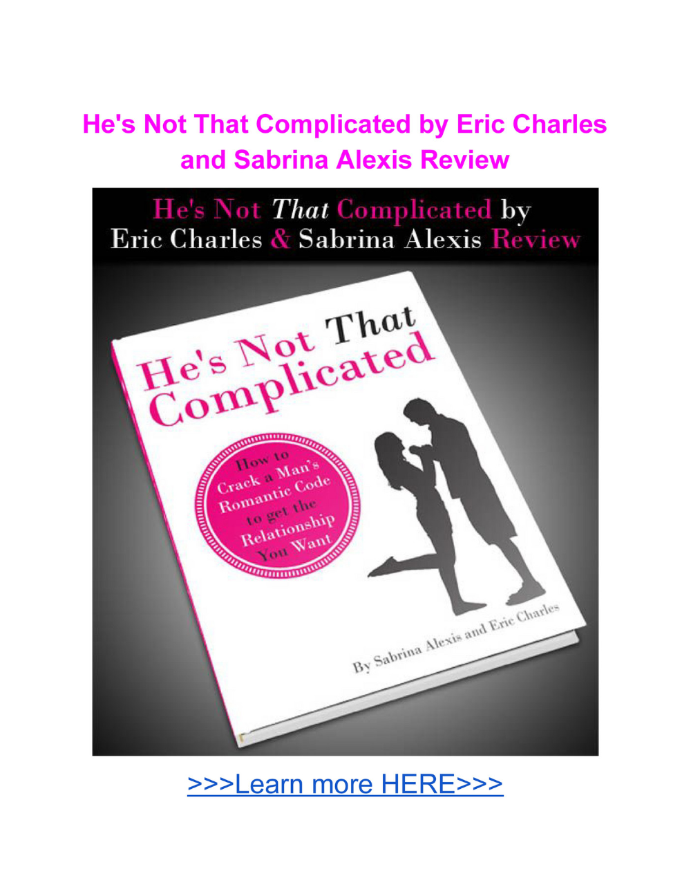 He S Not That Complicated Book Eric Charles Pdf Download Review Eric Complicated Felicity Keith