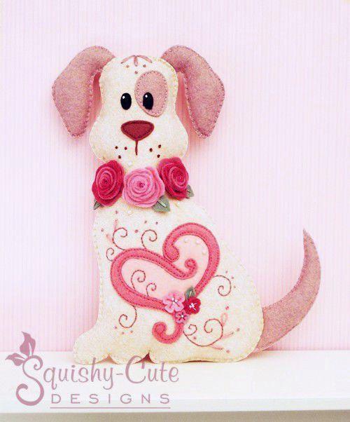 Dog Stuffed Animal Pattern Felt Plushie Sewing Pattern Tutorial