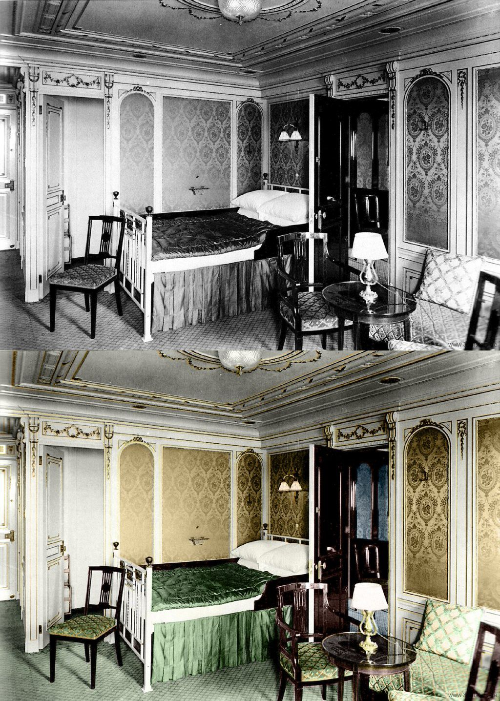 Titanic In Color First Class Cabin Titanic History Titanic Ship