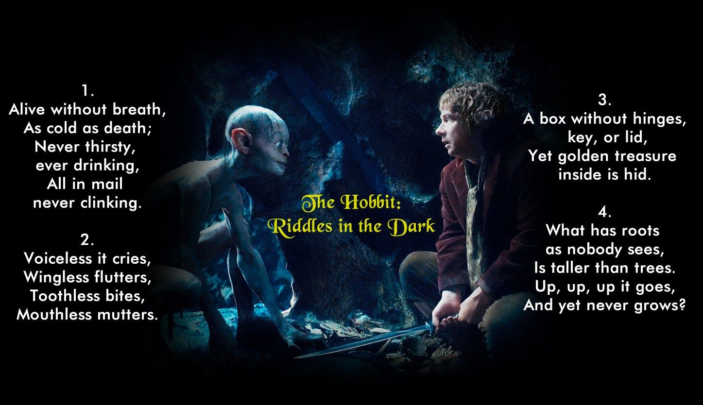 The Hobbit Riddles in the Dark Between Gollum and Bilbo
