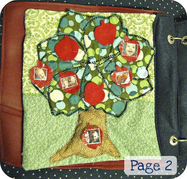 nice family tree quiet book page at the Freshly Completed blog