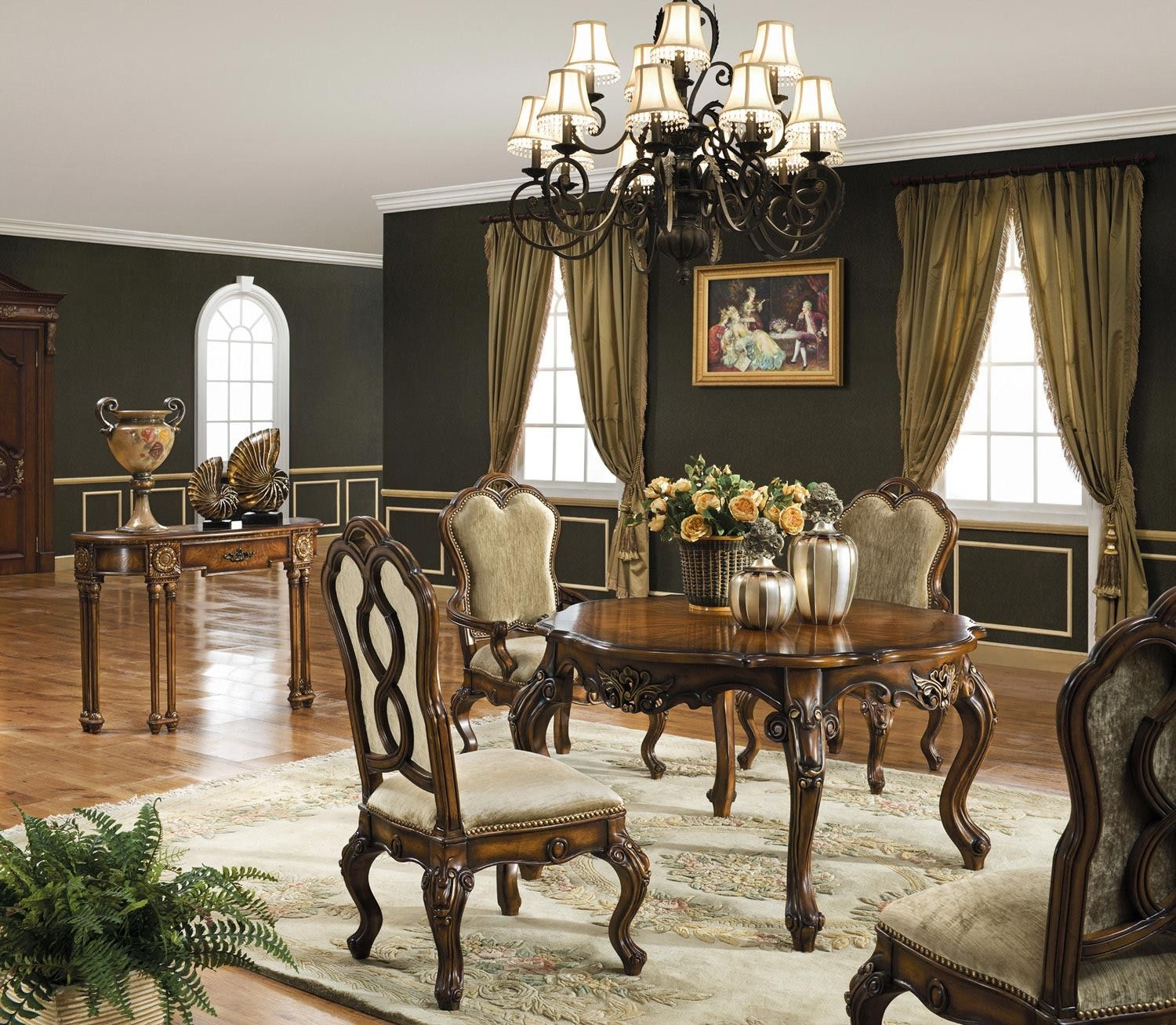 Room Store Dining Room Sets: Palazzo Leg Table Dining Room Set