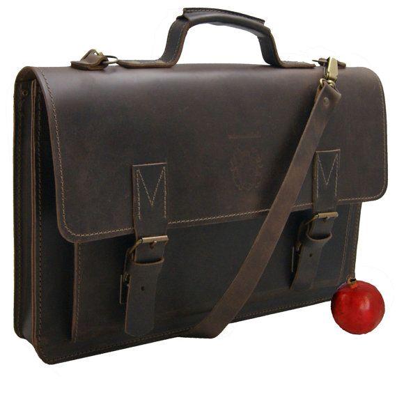 17 3 Inch Laptop Bag Briefcase Pythagoras Brown Leather Etsy In 2021 Mens Leather Laptop Bag Laptop Bag Bags