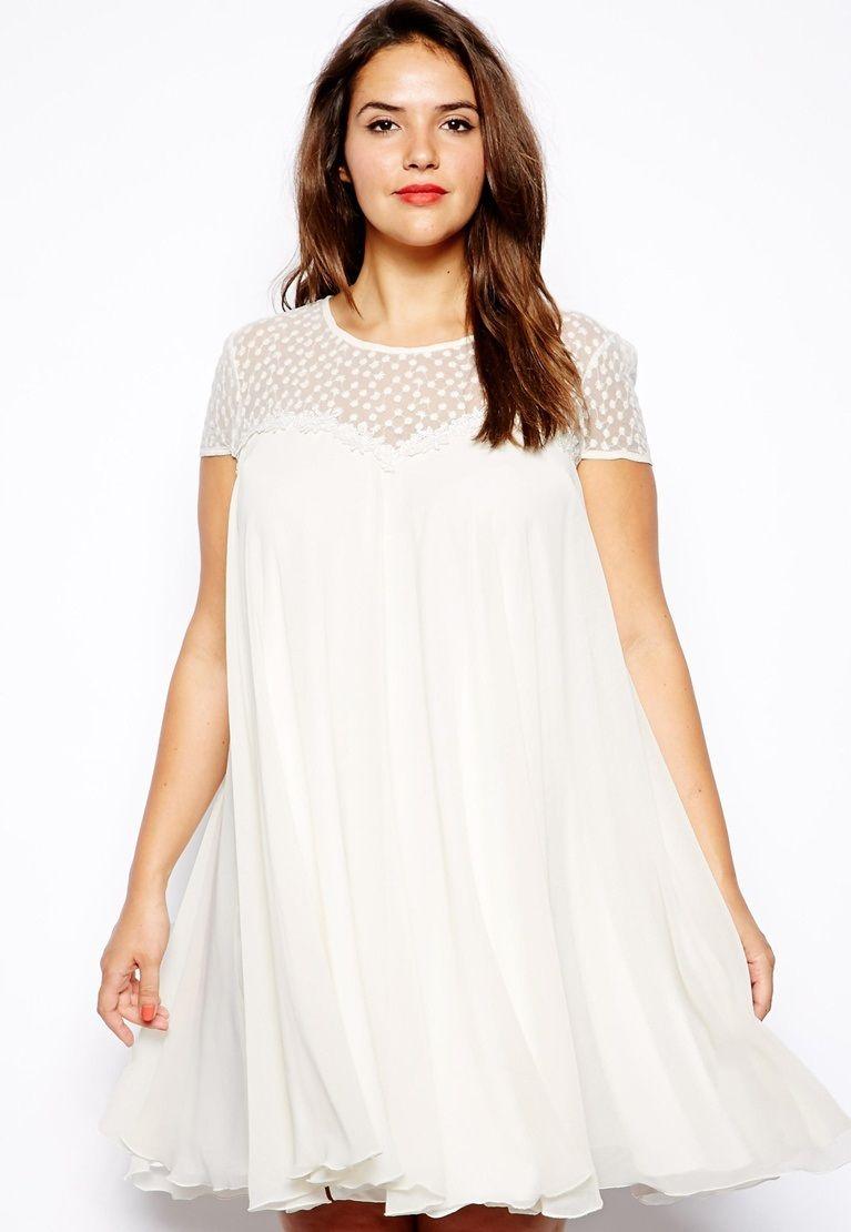 9cc6a407ce vestidos para gorditas color blanco