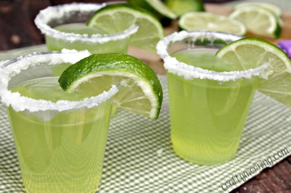 Lime Margarita Jello Shots - Crafty Morning