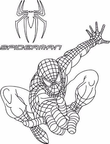 dibujos para colorear del hombre araña 4 | Super Heroes Marvel ...
