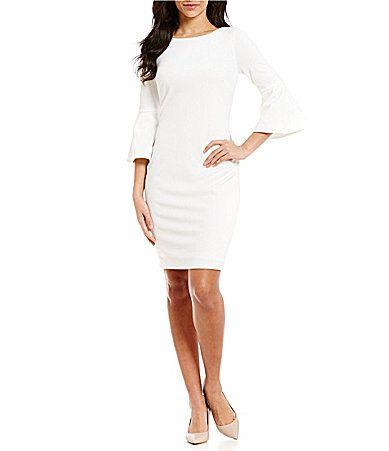 fc47ac15 Calvin Klein Bell Sleeve Sheath Dress in 2019 |