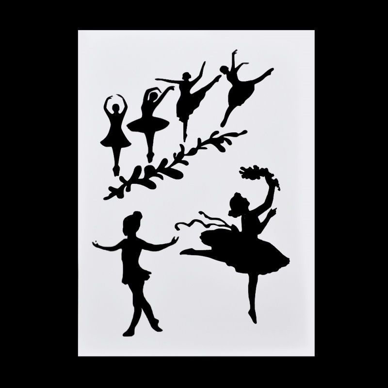 Ballet Girl Pattern Layering Stencil DIY Album Spray Deco Embossing Tool 1 Pc | eBay