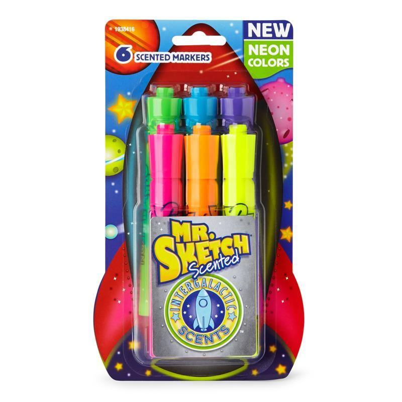Mr Sketch Scent Neon Chsl 6ct Mr Sketch Markers Felt Tip Markers