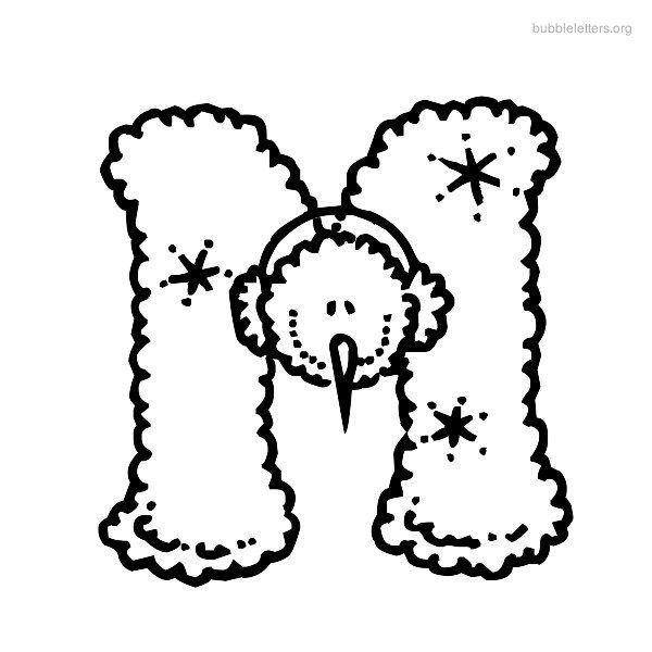 Print Leters Printable Bubble Letter M Alphabets To Print