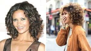 Natural ringlets bob featuring Thandie Newton