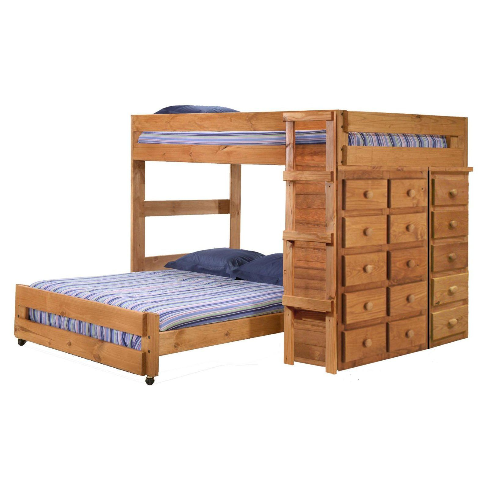 Have To It Chelsea Home Full Over Loft Bed With 2 Chests Ginger Stain 1478 Hayneedle Co Bunk Beds Stairs Storage