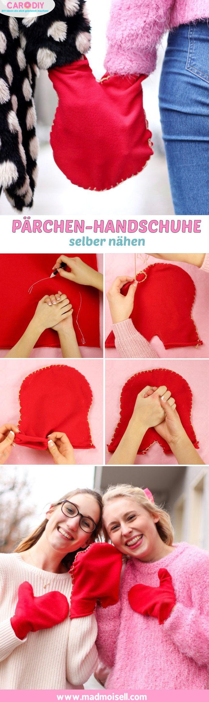 p rchen handschuhe selber n hen diy geschenke f r freund freundin diy basteln selbermachen. Black Bedroom Furniture Sets. Home Design Ideas