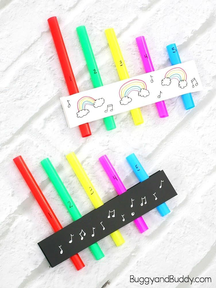 Explore sound with a homemade straw pan flute