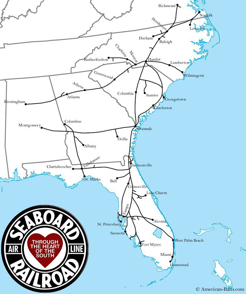 Pin By Ed Bradford On Railroad Pictures Pinterest Railroad - Atlanta T Montgomery Rail On Map Of Us